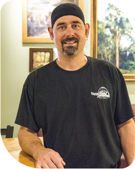 Swingbelly's kitchen manager Bret Palmer
